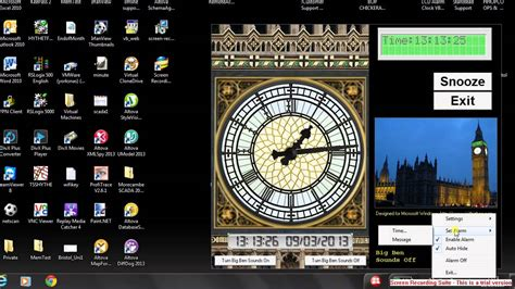 big ben lcd alarm clock for windows xp or windows 7