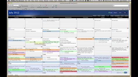 Pro Calendar Template For Filemaker 12 Youtube Filemaker Pro Templates