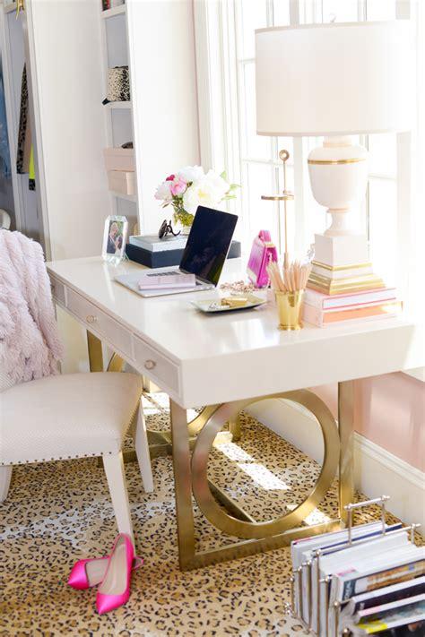 dream closet office leopard carpet white gold desk