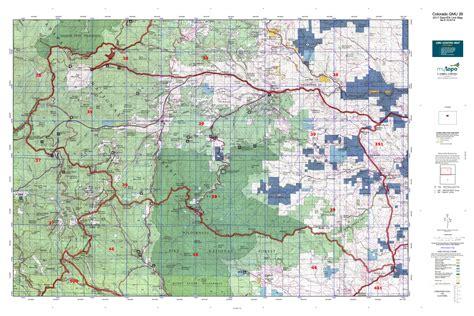 colorado elk unit map colorado gmu 39 map mytopo