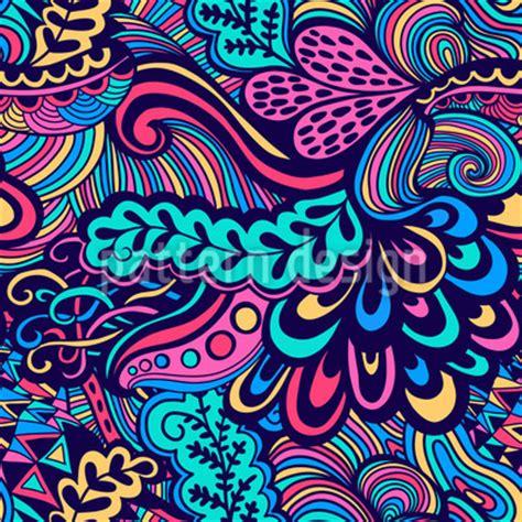 use pattern en español neon fantasien nahtloses vektor muster