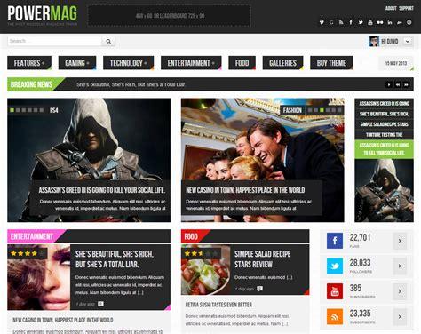 templates para blogger de noticias powermag templates e temas para sites