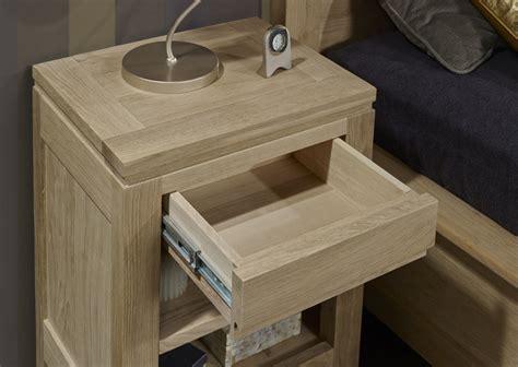 le de chevet nature table de nuit 1 tiroir 1 niche collection nature en ch 234 ne massif meuble en ch 234 ne massif