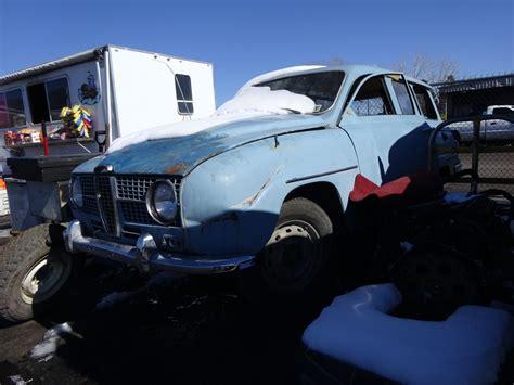 junkyard find 1968 saab 95 station wagon the