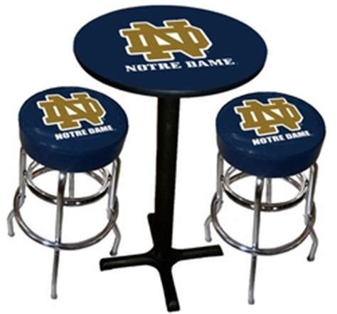 Notre Dame Wood Bar Stools by Notre Dame Black X Base 3pc Pub Table Set