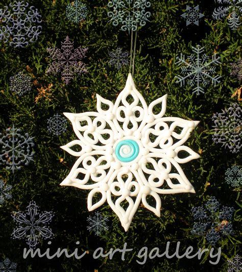 Handmade Snowflake - snowflake ornaments handmade polymer clay