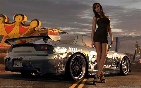 wallpaper girl and car need for speed prostreet girl wallpaper hd car
