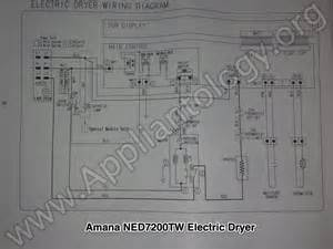 amana ned7200tw samsung built electric dryer wiring diagram the appliantology gallery