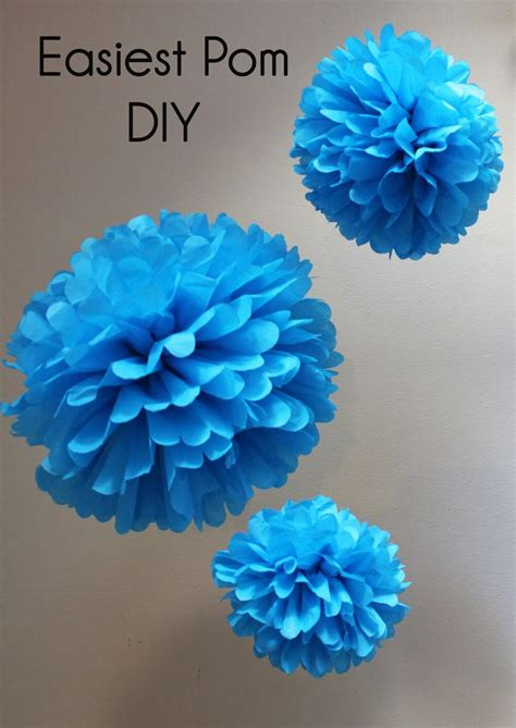 How To Make Paper Pom Pom Decorations - 17 best ideas about tissue pom poms on paper