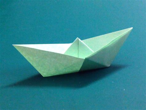 Paper Folding Ship - origami how to make a simple origami boat that floats hd
