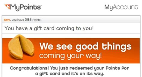 My Points Gift Cards - i got another free 10 gift card from mypoints who said nothing in life is free