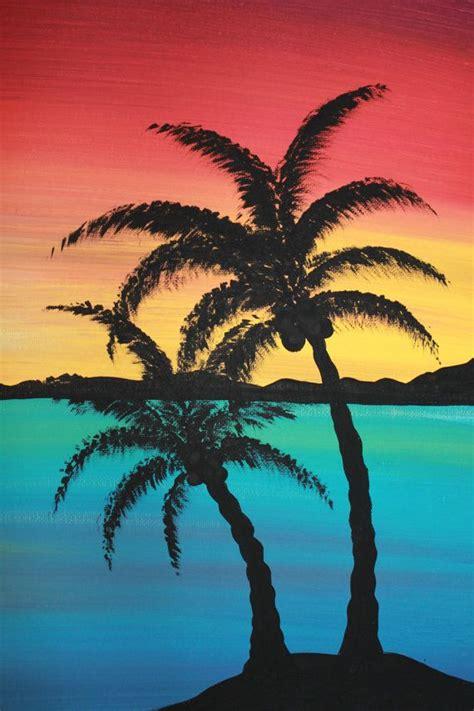 paint island original acrylic painting canvas paradise by