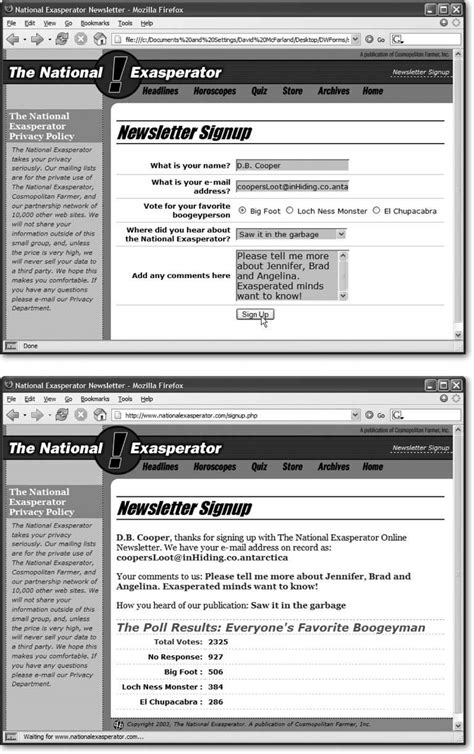Dreamweaver 8 The Missing Manual section 10 5 forms tutorial dreamweaver 8 c the