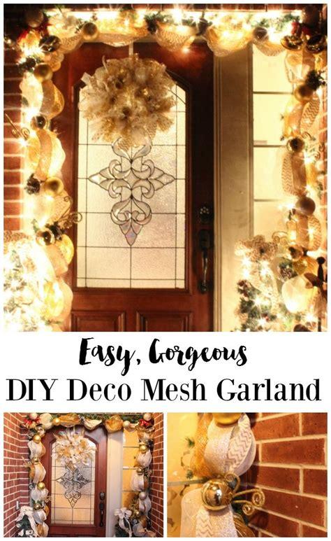 diy deco mesh garland tutorial learn    holiday