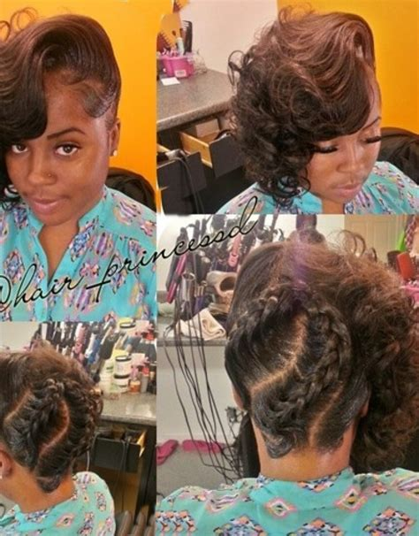 braided pin up hairstyle for black women braided updo for african american women hollywood official