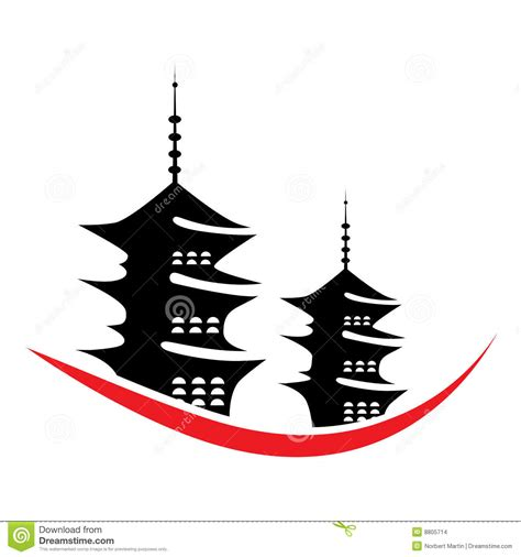 vector pagoda illustration stock vector illustration of
