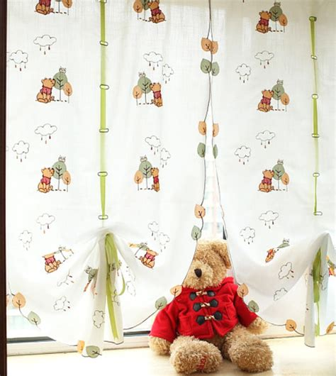 winnie the pooh window curtains winnie the pooh curtains and valances