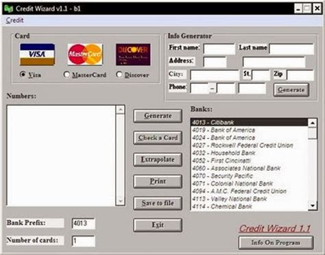 Sle Credit Card Number Generator Credit Card Generator
