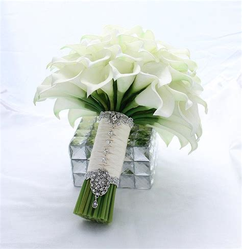 Real Bridal Bouquets by Bridal Bouquet Real Touch White Mini Calla