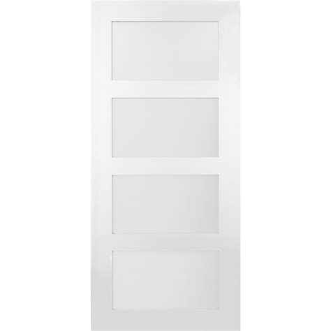 36 Inch Sliding Closet Doors Shop Masonite Classics 4 Lite Frosted Glass Slab Interior Door Common 36 In X 84 In Actual