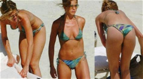 thong swimwear pubic hair showing jennifer aniston the secret to her body and mind