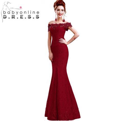 desain long dress elegan in stock elegant beads lace mermaid long evening dress