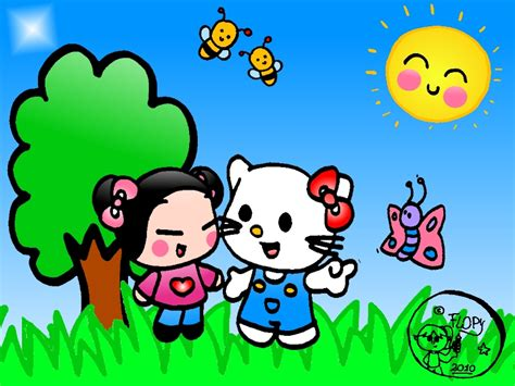 imagenes de hello kitty y pucca hello kitty and pucca o by flopylopez on deviantart