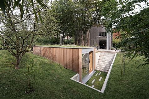 garden workshop ideas a sunken garden workshop in belgium by l escaut