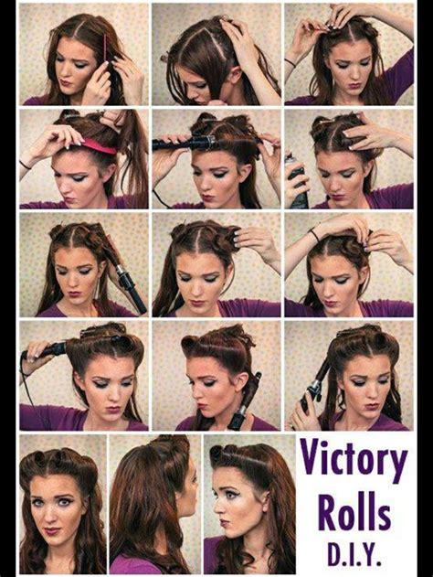 step by step vintage hairstyles step by step pinup hairstyle vintage pin up hair