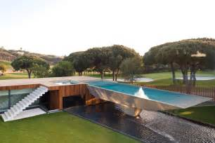 Modern Home Design With Pool Modern Home With A Unique Suspended Pool In Portugal