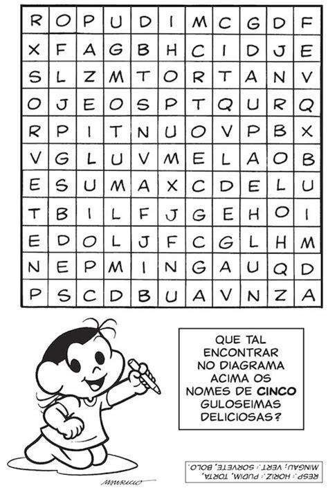jogos da turma da monica - Pesquisa Google | Caça palavras