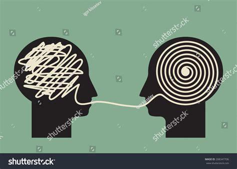 understanding illustration decoding understanding problem face face explanation stock vector 208347706 shutterstock