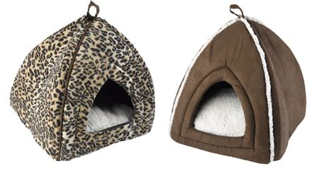 cat igloo bed pet face mollies igloo kitten puppy bed cat dog bedding leopard print or suede ebay