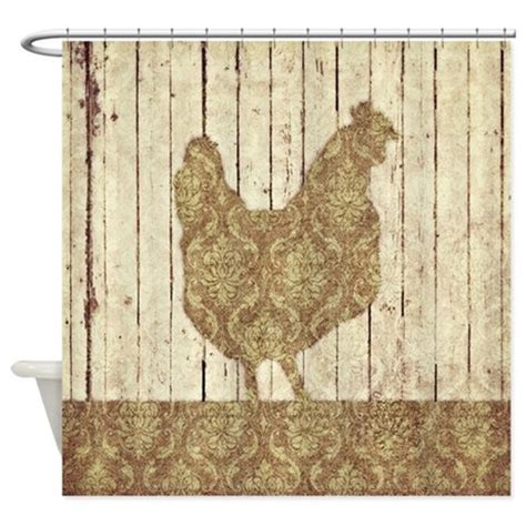 rooster curtains damask rooster shower curtain by kookychicken