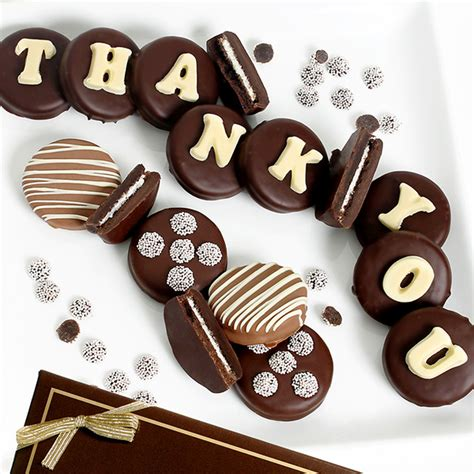 thank you letter chocolate gift thank you oreo 174 cookies by gourmetgiftbaskets