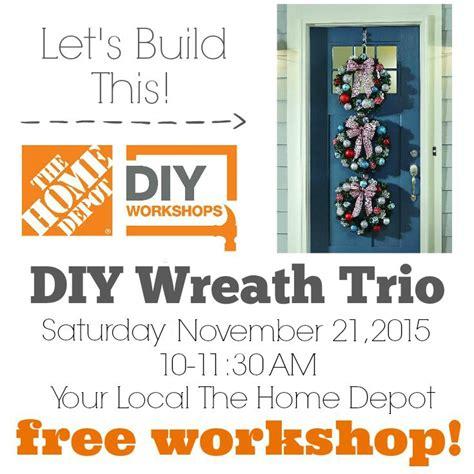 home depot diy workshops the home depot diy workshop save the date decor