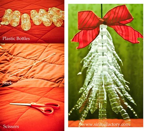Home Made Xmas Decorations how to make a recycled christmas decor plastic bottle