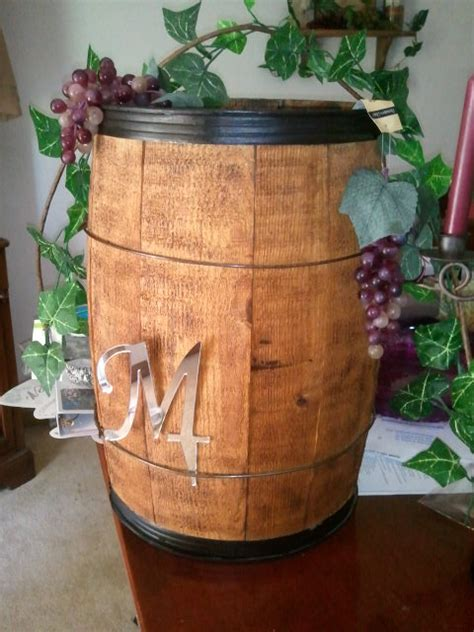 wine barrel wedding card holder wine barrel card box weddingbee photo gallery