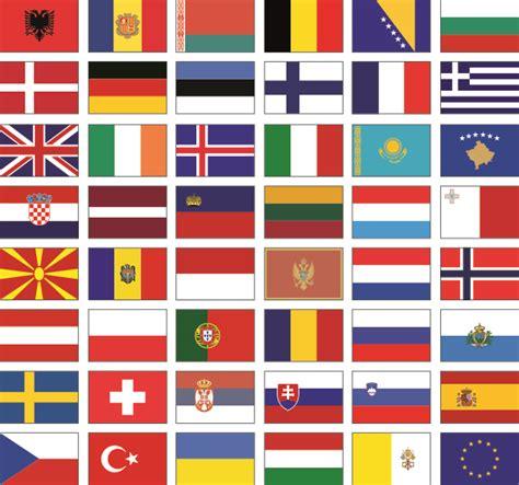 Kofferaufkleber Flaggen by Sticker Store24 Europa Alle Flaggen Als Aufkleberset