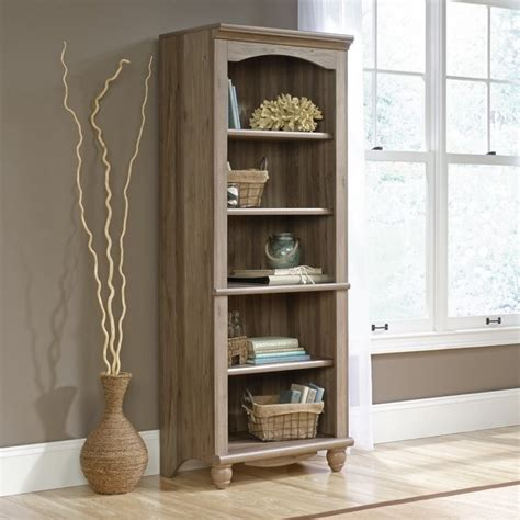 sauder salted oak 5 shelf bookcase 5 shelf bookcase in salt oak 419912