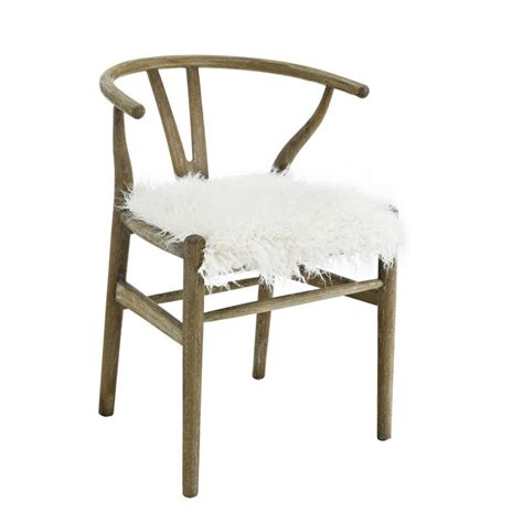 riverbay furniture wishbone chair  brown  gray washed rf