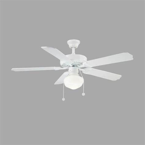 Home Depot White Ceiling Fan With Light Montgomery 42 In Indoor White Ceiling Fan With Light Rdb91 Wh The Home Depot