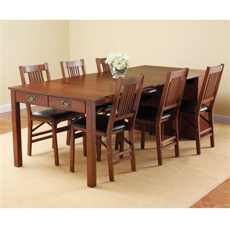 Expandable Dining Room Table The Expanding Dining Table Hutch Hammacher Schlemmer This Is The Hutch That Converts Into A