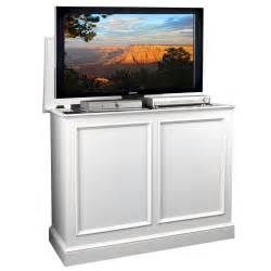 Tv Lifts Cabinets Carousel White Tv Lift Cabinet By Tvliftcabinet