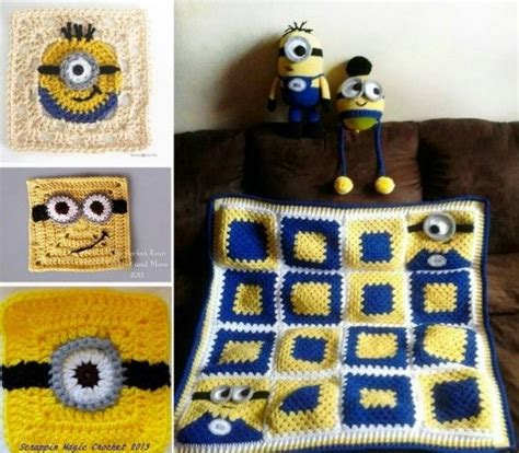 free crochet pattern minion crochet afghan square make 2680 best knit crochet round ups images on pinterest