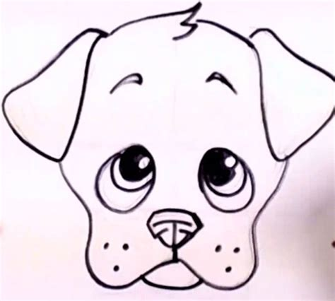 Easy to draw a cute puppie | Drawing | Pinterest | Drawings Easy Dog Face Drawing
