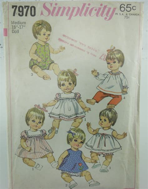 vintage baby doll clothes sewing pattern from vtgcharleys1 on