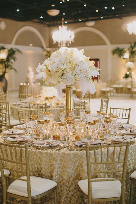gold wedding decorations palette of gold white blush and ivory wedding table decor