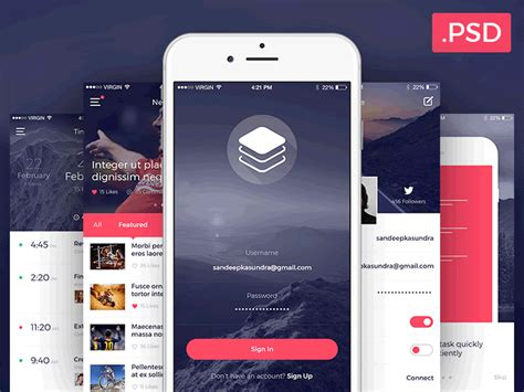app design kit top 50 free mobile ui kits for ios android