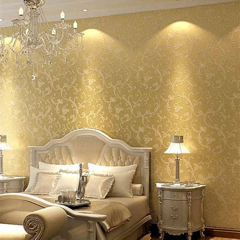 Metallic Bedroom Wallpaper by Compare Prices On Gold Metallic Wallpaper Wall Coverings